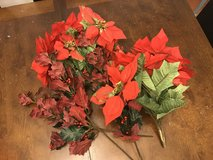 Artificial Poinsettas in Aurora, Illinois
