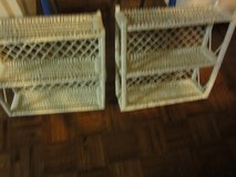 White wicker wall cabinets in Coldspring, Texas
