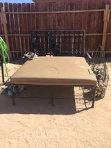 Rod iron patio chaise in 29 Palms, California