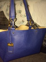 Ralph Lauren lamb leather royal blue bag in 29 Palms, California