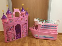 Barbie Cruise Ship and Castle in Stuttgart, GE