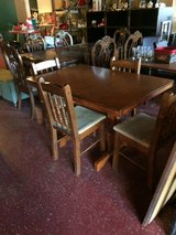 Solid Wood Kitchen Table W/ Four Chairs in Fort Polk, Louisiana