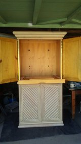 Solid  pine wood entertainment center in Hemet, California