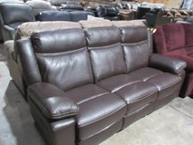 new reclining sofa brown in Clarksville, Tennessee