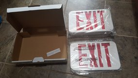 Dual EXIT signs 2 new in Travis AFB, California
