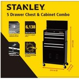 Brand New Sealed Box/Stanley  5 Drawer Tool Box Tool Chest Combo/Gift Ready in Kingwood, Texas