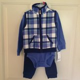 *New* Carters Boys 18m 3-Piece Blue Flannel Vest Outfit in Naperville, Illinois