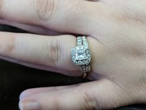 White gold 1k Engagement ring +  white gold 1/4th ct wedding band in Fort Knox, Kentucky