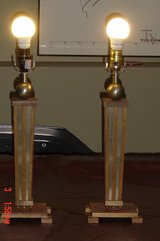 2 Mission Style Matching lamps in Lockport, Illinois