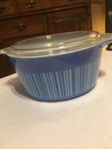 Pyrex Blue Stripe 1.5Qt w/lid in Fort Campbell, Kentucky