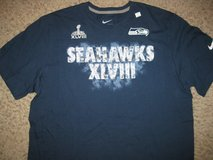 SEATTLE SEAHAWKS Nike Super Bowl XLVIII T-Shirt (Large & XL) *** NEW *** in Fort Lewis, Washington