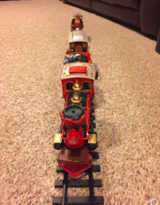 VINTAGE Animated Musical Christmas Magic Express Train HAND PAINTED-1ST ED in Tinley Park, Illinois