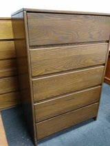 pure wood 5 drawer dresser chest in Orland Park, Illinois