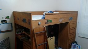 Loft Bunk Bed with builtins in Camp Lejeune, North Carolina
