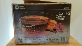 Anchor Hocking Crown Point Punch Bowl Set in Yorkville, Illinois