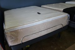 Queen Adjustable Base and Mattress in CyFair, Texas