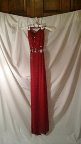 Red beaded long dress in Elgin, Illinois