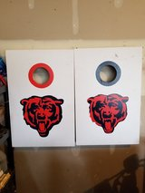 Chicago bears toss bean bag boards set cornhole in Chicago, Illinois