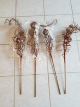 Large Copper glitter christmas tree stems decoration in Plainfield, Illinois