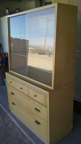 Vintage 1940s genuine mahogany hutch in 29 Palms, California