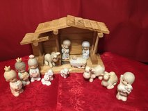 Precious moments miniature nativity scene. Oh come let us adore him. in Fort Campbell, Kentucky