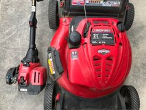 Troy-Bilt lawnmower and weed eater in Okinawa, Japan