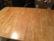 solid wood table and 6 chairs in Fort Bliss, Texas