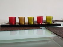 5 glass candles holder in Lakenheath, UK