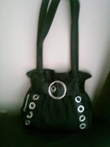 Black Faux Leather Shoulder Bag - New in Tinley Park, Illinois