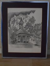 "WATERCOLOR Print ""LITTLE GREEN SCHOOLHOUSE - SILVERADO TRAIL - NAPA"" in Vacaville, California"