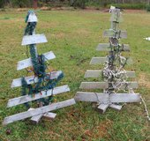 TWO (2) OUTDOOR WOOD CHRISTMAS TREES in Cherry Point, North Carolina