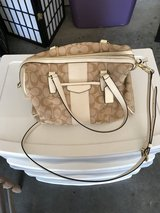 Tan coach purse in Fort Irwin, California