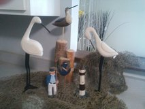 Lot of Nautical Decor Items - Net Birds Pile Lighthouse Seaman in Westmont, Illinois