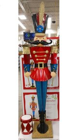 Two life size Christmas toy soliders in Lockport, Illinois