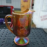 Vintage, carnival glass pitcher. Excellent condition, no chips, no cracks. We accept cash debit ... in Cleveland, Texas