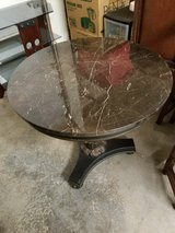 REDUCED! Round Marble Top Decorative Table in Beale AFB, California