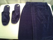 Men's Blue Towel Wrap and Slippers in Eglin AFB, Florida