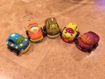 Lot of 5 baby / toddlers soft toy trucks/cars in Morris, Illinois