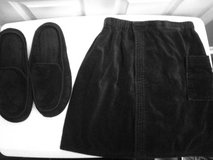 Men's Black Towel Wrap and Slippers in Eglin AFB, Florida