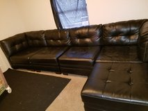 MAKE AN OFFER super nice black leather sectional in Fort Polk, Louisiana