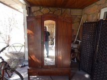 Large Armoire with mirror, interior clothes rack, bottom drawer in Alamogordo, New Mexico