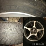 Winter tires with rims in Morris, Illinois