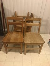 Set of 4 Wooden Children's Chairs in Camp Lejeune, North Carolina