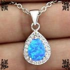 New - Dainty Blue Fire Opal Necklace in Alamogordo, New Mexico