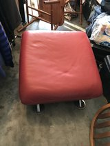 Red leather ottoman in Fort Campbell, Kentucky
