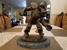 """WILD WING """"DEFENDING THE POND"""" LIMITED EDITION BRONZE SCULPTURE in Camp Pendleton, California"""