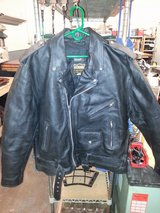 Leather Motorcycle Jacket with Zip-In Liner in Alamogordo, New Mexico