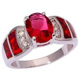 New - Kunzite and Red Fire Opal Ring - Size 9 in Alamogordo, New Mexico