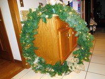 "EXTRA LARGE  LIGHTED GREEN PINE WREATH  40"" in Naperville, Illinois"