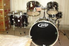 """NEW"" PDP Concept Birch 6 pc complete shell pack in Transparent Walnut finish in Camp Lejeune, North Carolina"